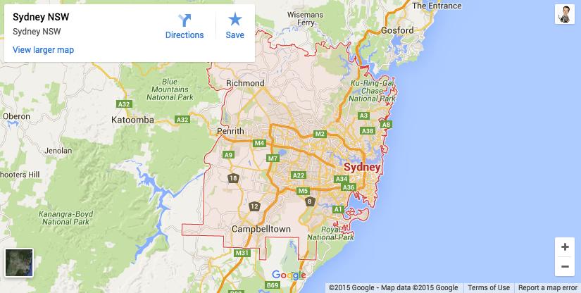 sydney delivery zones